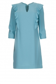 Kocca |  Dress with ruffles Collen | blue  | Picture 1