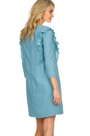 Kocca |  Dress with ruffles Collen | blue  | Picture 5