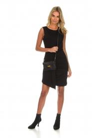Kocca | Gedrapeerde jurk Klore | zwart  | Afbeelding 3