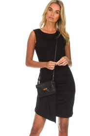 Kocca |  Draped dress Klore | black  | Picture 4
