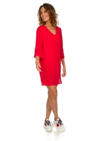 Kocca |  Dress with pleated sleeve ends Roches | red  | Picture 3