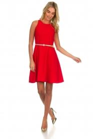 Kocca |  Dress with glitter belt Afdar | red  | Picture 3