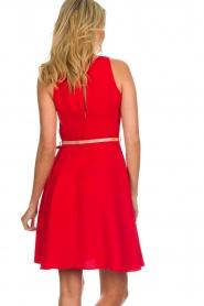 Kocca |  Dress with glitter belt Afdar | red  | Picture 6