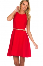 Kocca |  Dress with glitter belt Afdar | red  | Picture 2