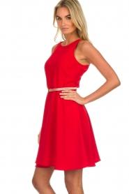 Kocca |  Dress with glitter belt Afdar | red  | Picture 5