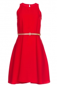 Kocca |  Dress with glitter belt Afdar | red