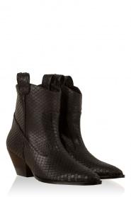 Leren laarzen Paris | zwart