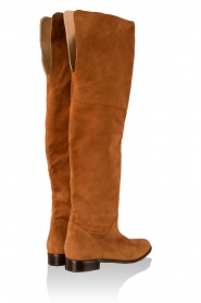 Suede over-the-knee boots Second Skin | Brown