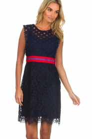 Kocca |  Lace dress Vand | navy  | Picture 4