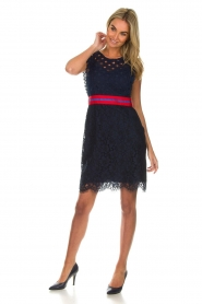 Kocca |  Lace dress Vand | navy  | Picture 3