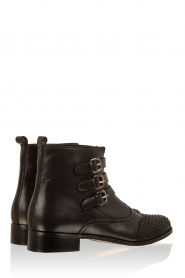 Leather ankle boots Stardust | black