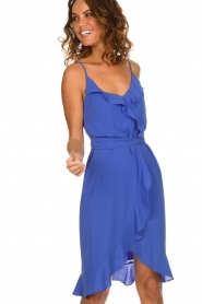 Kocca |  Dress with ruffles Ciulo | blue  | Picture 2