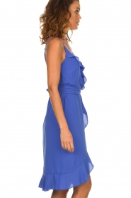 Kocca |  Dress with ruffles Ciulo | blue  | Picture 4