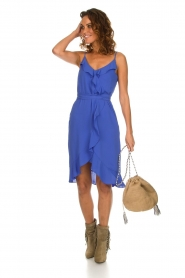 Kocca |  Dress with ruffles Ciulo | blue  | Picture 3
