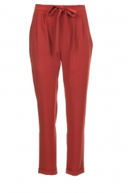 Kocca |  Trousers with bow Elina | brown  | Picture 1