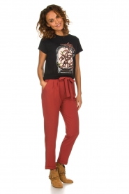 Kocca |  Trousers with bow Elina | brown  | Picture 2