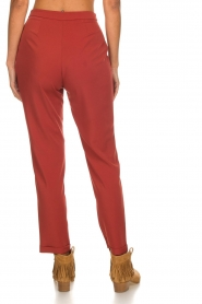Kocca |  Trousers with bow Elina | brown  | Picture 5