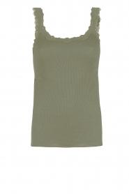 Rosemunde |  Silk top Babette | Green  | Picture 1