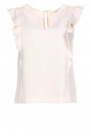Kocca |  Top with ruffles Brisia | natural  | Picture 1