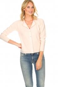 Rosemunde | Wollen vest met kasjmier Marbelle | roze  | Afbeelding 2