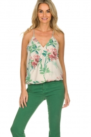 Kocca |  Top with floral print Blues | multi  | Picture 2