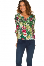 Kocca | Top met bloemenprint Jangle | multi  | Afbeelding 2