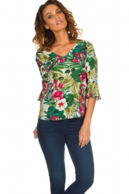 Kocca | Top met bloemenprint Jangle | multi  | Afbeelding 4