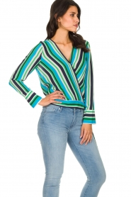 Kocca |  Striped blouse Norberto | multi  | Picture 4