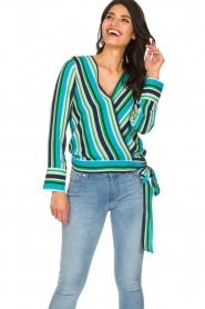 Kocca |  Striped blouse Norberto | multi  | Picture 2