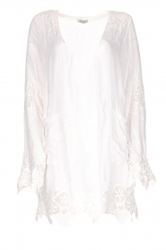Fracomina |  Cardigan with lace Winnifred | white  | Picture 1