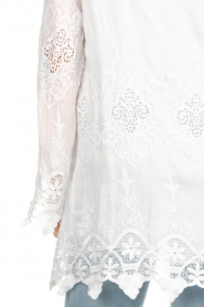 Fracomina |  Cardigan with lace Winnifred | white  | Picture 6