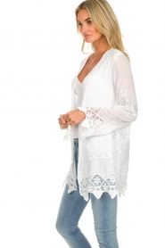 Fracomina |  Cardigan with lace Winnifred | white  | Picture 4