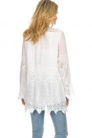 Fracomina |  Cardigan with lace Winnifred | white  | Picture 5