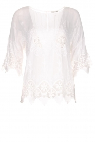 Fracomina |  Top with lace Donnatella | white  | Picture 1
