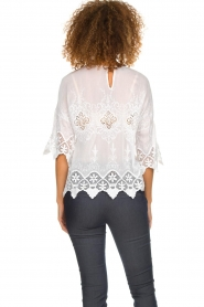 Fracomina |  Top with lace Donnatella | white  | Picture 7