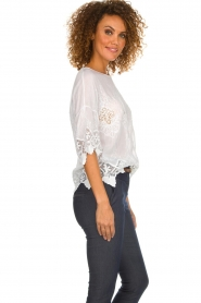 Fracomina    Top with lace Donnatella   white    Picture 6