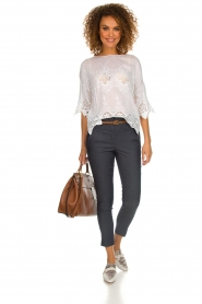 Fracomina |  Top with lace Donnatella | white  | Picture 3