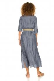 Fracomina |  Pinstripe midi dress Selina | blue  | Picture 6