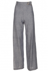 Pinstripe trousers Mell | blue