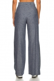 Fracomina |  Pinstripe trousers Mell | blue  | Picture 5