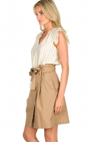 Fracomina |  Paperbag skirt Flaire | beige  | Picture 4