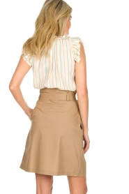 Fracomina |  Striped top with ruffles Butter | natural  | Picture 5