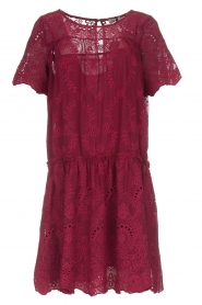 Fracomina |  Embroidery dress Tilda | wine red  | Picture 1