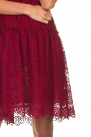 Fracomina |  Embroidery dress Tilda | wine red  | Picture 7