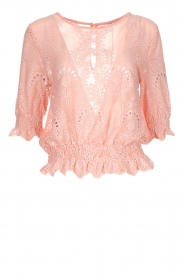 Fracomina |  Embroided top Tessa | pink  | Picture 1