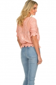 Fracomina |  Embroided top Tessa | pink  | Picture 5