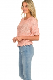 Fracomina |  Embroided top Tessa | pink  | Picture 4
