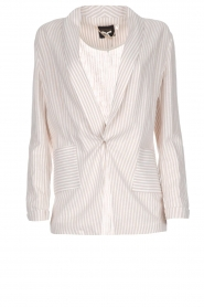 Fracomina |  Striped blazer Sandy | beige  | Picture 1