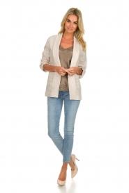Fracomina |  Striped blazer Sandy | beige  | Picture 3