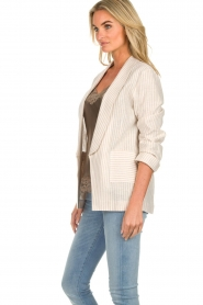 Fracomina |  Striped blazer Sandy | beige  | Picture 5